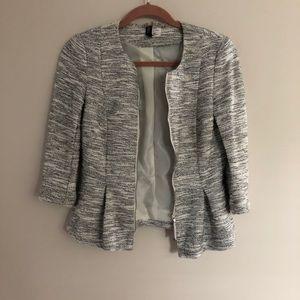 Lightweight Size 6 peplum zip up blazer from H&M.